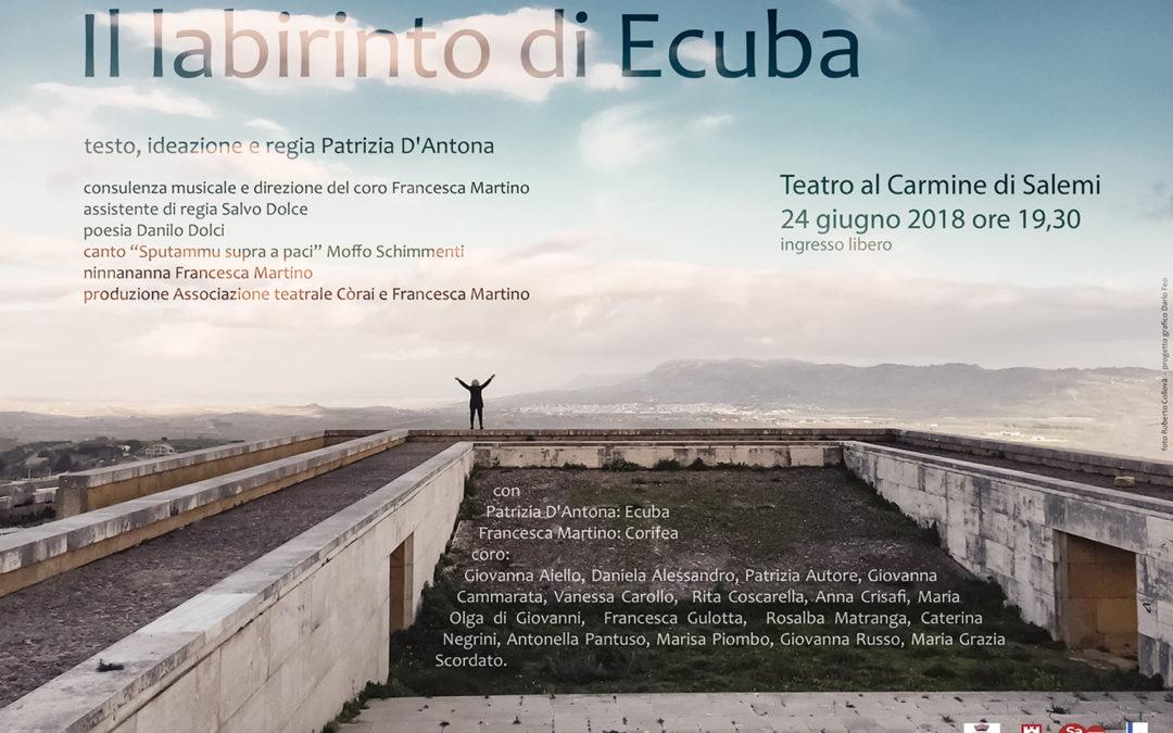 Il labirinto di Ecuba SALEMI theater show (Graphic project)